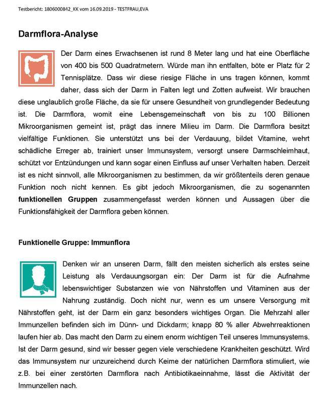 Darmflora-Check Bericht Seite 3