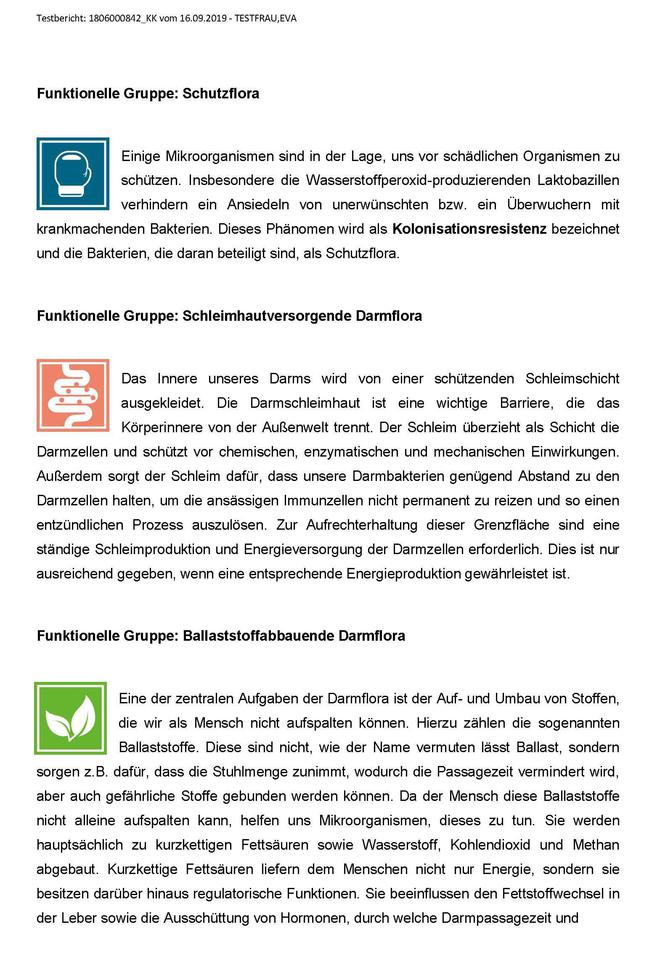 Darmflora-Check Bericht Seite 4