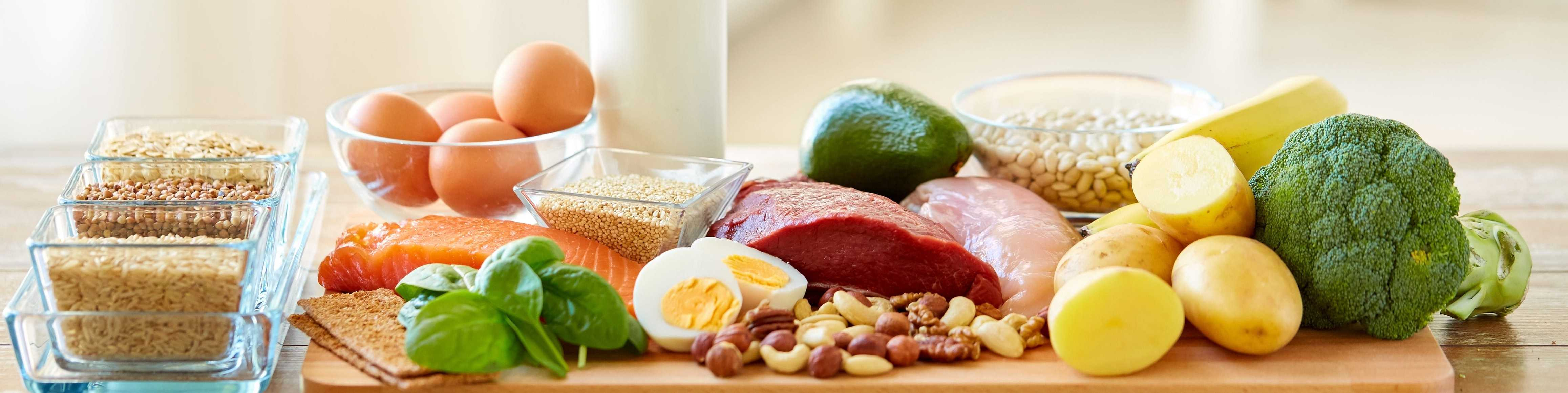 Eier, Fleisch, Nüsse, Foodmap-arme-Lebensmittel