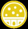 Icon mit weißem Epithel auf gelbem Grund
