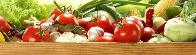 frisches Tomaten, Kohlrabi, Blumenkohl, Lauch, Mais