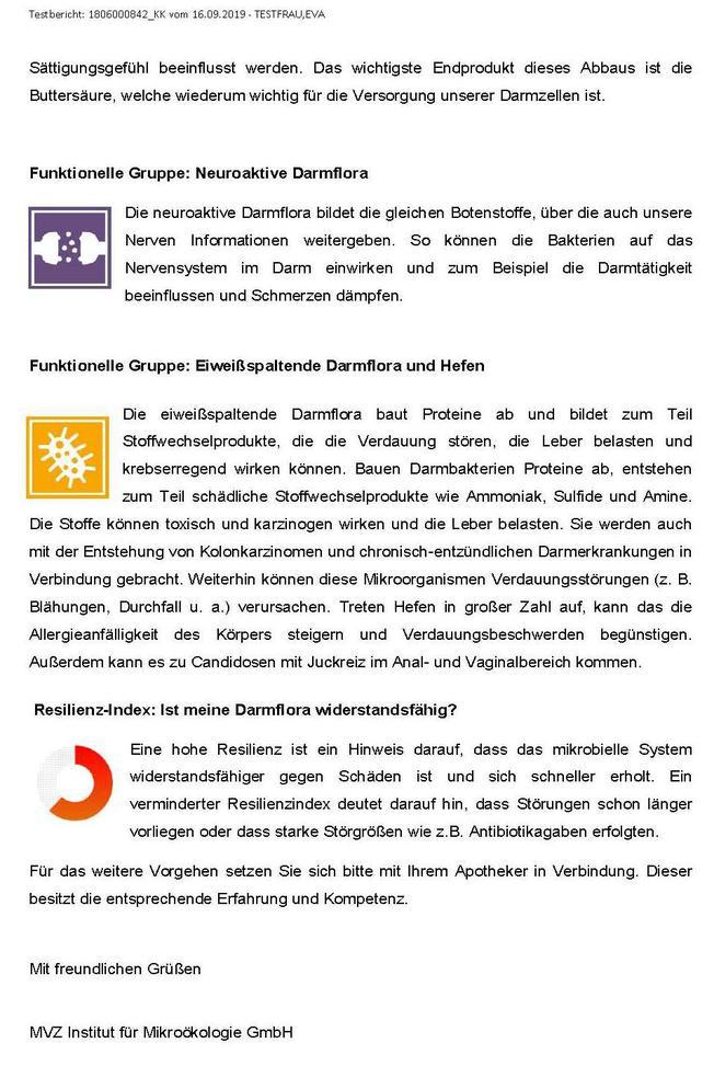 Darmflora-Check Bericht Seite 5